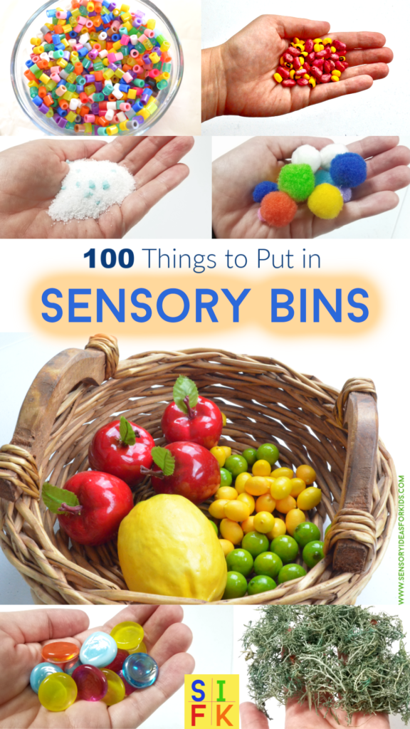 bright colorful sensory play bin ideas