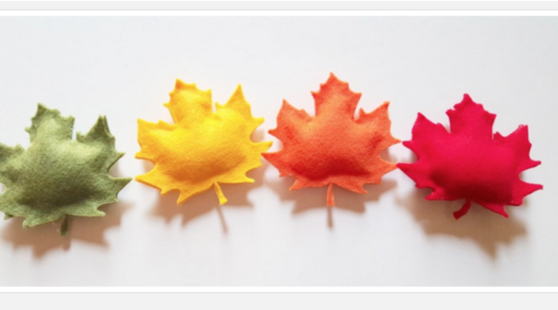 colorful felt leaves