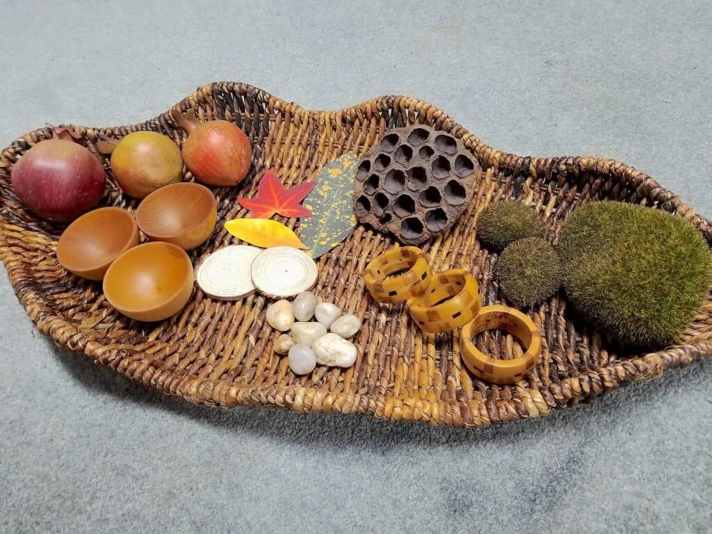 nature sensory basket