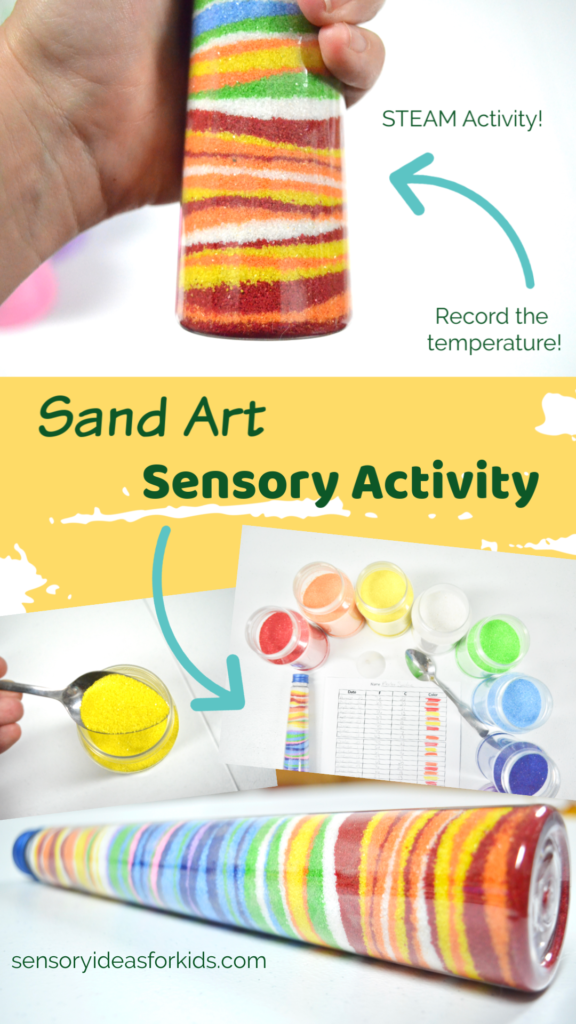 colorful sensory art sand