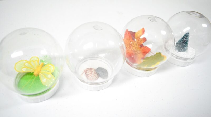 season snow globe sensory activity